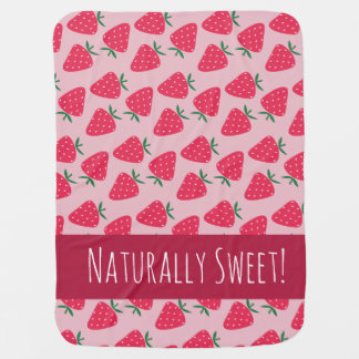 Naturally Sweet Strawberry Baby Girl blanket