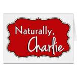 Naturalmente, logotipo 2 de Charlie Tarjetas