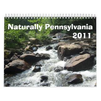 Naturalmente Pennsylvania Calendario De Pared