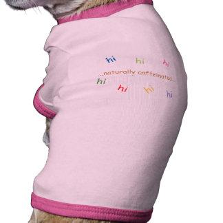Naturalmente rosa de Caffeinated Camisas De Perritos