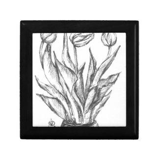 nature, abstract, flowers, foliage , grunge keepsake box