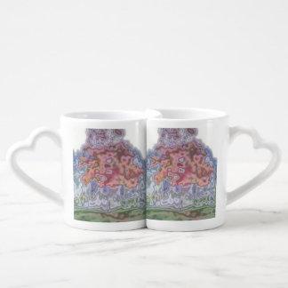 Nature abstract pattern coffee mug set