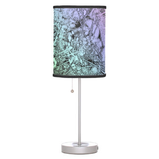 Nature Abstract Weeds in Pink and Blue Table Lamp
