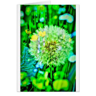 Nature abstractly breath flower card