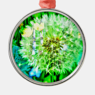 Nature abstractly breath flower metal ornament
