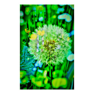 Nature abstractly breath flower poster
