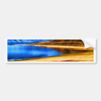 nature and beauty    great salt lake utah landscap bumper sticker