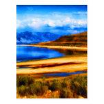 nature and beauty    great salt lake utah landscap postcard