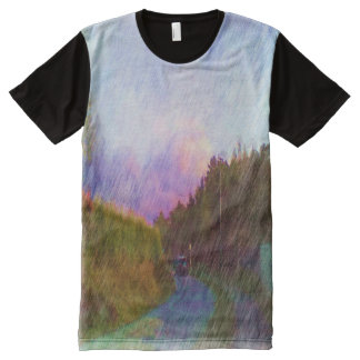 Nature and car All-Over-Print T-Shirt