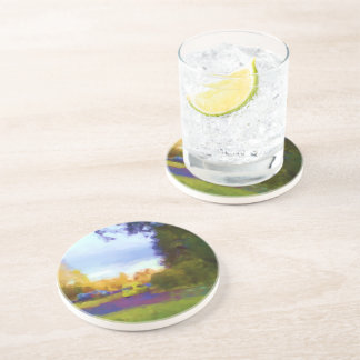 Nature and car photo coaster