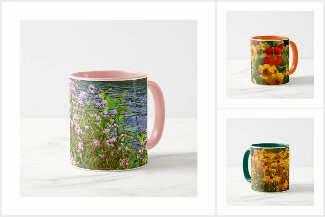Nature and flower image mugs