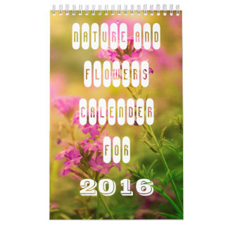 Nature and flowers calendar