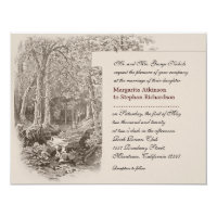 nature and forest wedding invitations