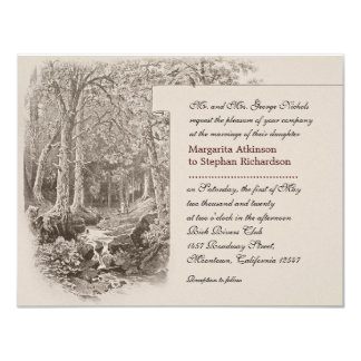 "nature and forest wedding invitations 4.25"" x 5.5"" invitation card"