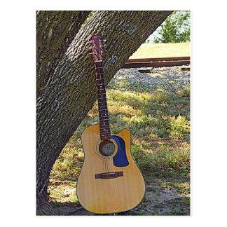 Nature and Guitar Card Postcard