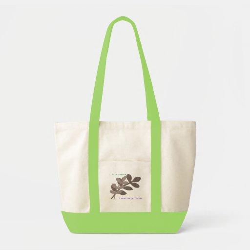 nature and politics impulse tote bag