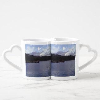 nature and sea two sun coffee mug set