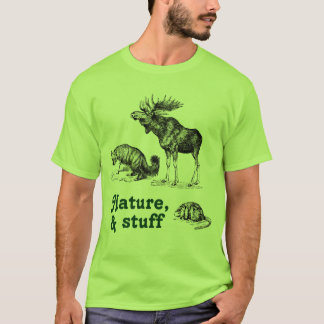 Nature and stuff moose fox and muskrat shirt