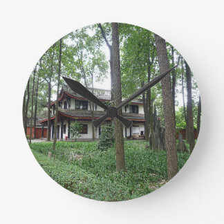 Nature and Tranquility Round Clock