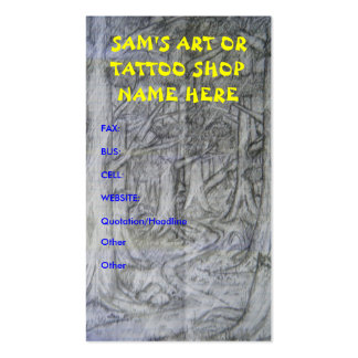 Nature Art Or Tattoo Shop Business Cards