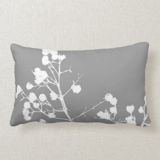 nature art pillow gray and white home decor