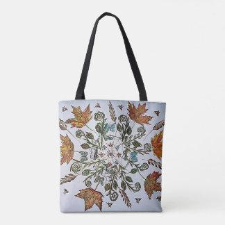 Nature Art Spiderweb Painting Tote Bag