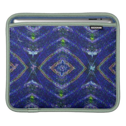 Nature Aura Blue Abstract iPad Sleeve