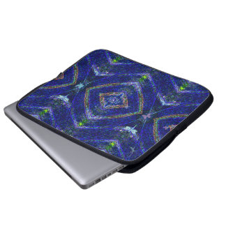 Nature Aura Blue Abstract Laptop Sleeve
