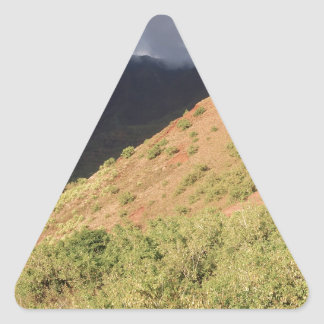 Nature Autumn Hill Storm Triangle Sticker