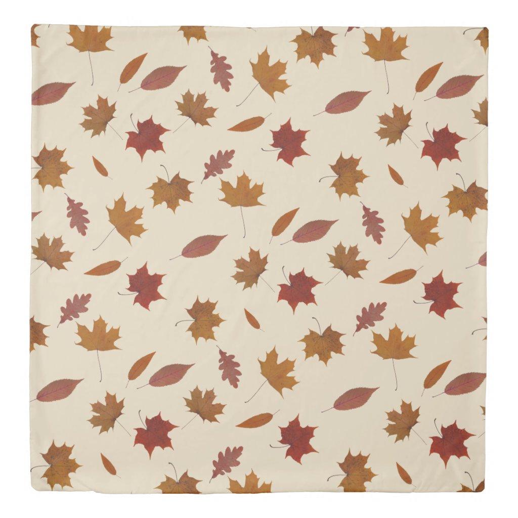Nature Autumn Leaves on Cream Custom Color