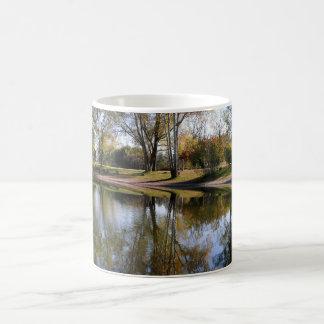 Nature Autumn Tree Water Scene Coffee Mug