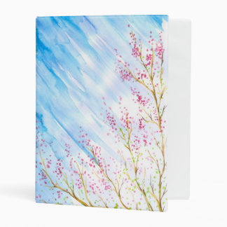 Nature background mini binder