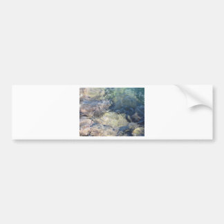 Nature background of transparent sea water flowing bumper sticker