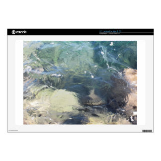 """Nature background of transparent sea water flowing decals for 17"""" laptops"""