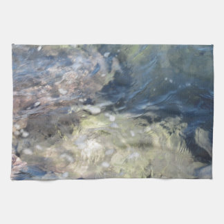 Nature background of transparent sea water flowing hand towels