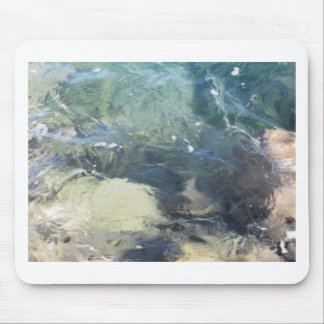 Nature background of transparent sea water flowing mouse pad