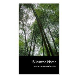 Nature Bamboo Forests Business Card Template