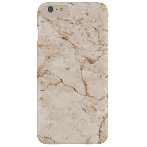 Nature Beige Marble Barely There iPhone 6 Plus Case