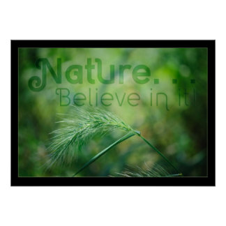Nature! Believe in it! Poster