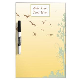 Nature Birds Medium Dry Erase Board