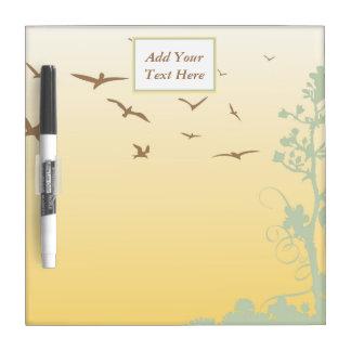 Nature Birds Small Dry Erase Board