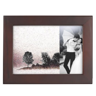 Nature black and white morning fog tree silhouette memory box