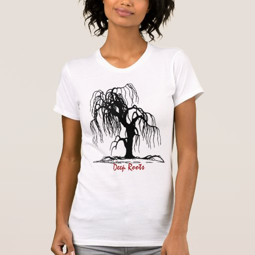 Nature Black Willow Tree (very cool) Deep Roots T-shirt
