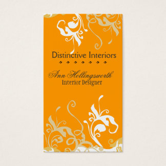 Nature  Bold DayLilies Golden Floral Business Card
