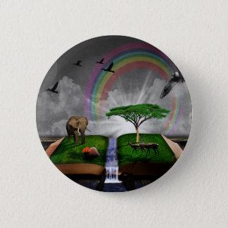 Nature book fantasy artistic illustration button