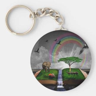 Nature book fantasy artistic illustration keychain