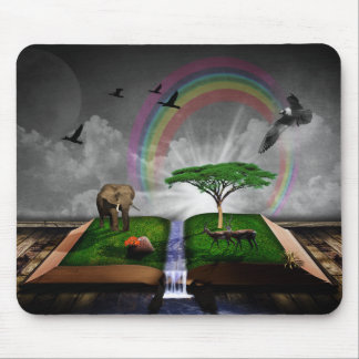 Nature book fantasy artistic illustration mouse pad