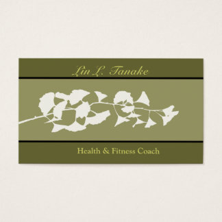 Nature Branch Asian Flare Ginkgo Business Card