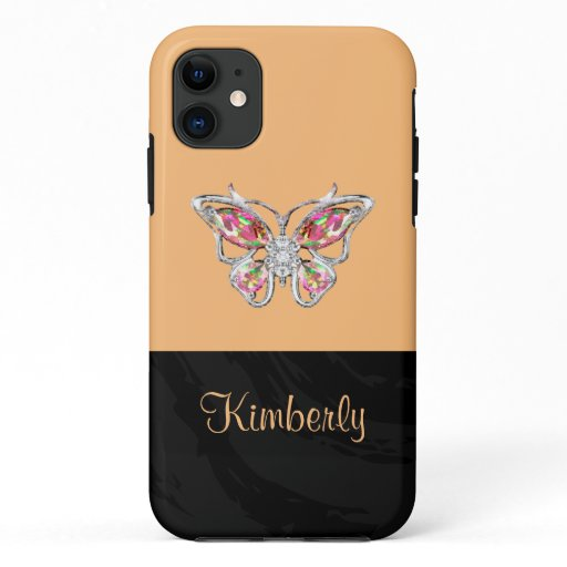 Nature Butterfly Art Ladies Monogram iPhone 11 Case