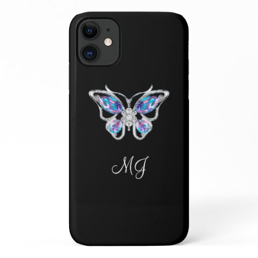 Nature Butterfly Art Monogram iPhone 11 Case